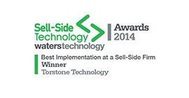 Best Implementation at a sell-side firm winner 2014